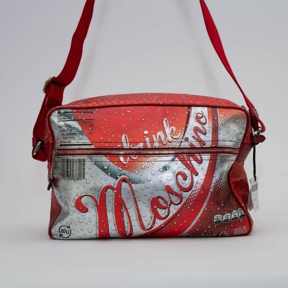 SS15 Coca Cola Drink Moschino Leather Shoulder Bag